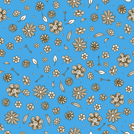 vector fabric: Floral pattern seamless, vector fabric design Illustration
