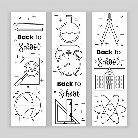 Back to school banner concept, vector design