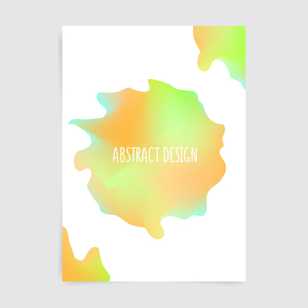 Abstract round design in colorful modern style, vector banner