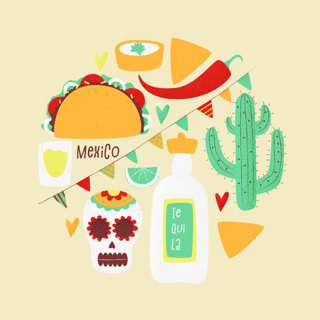 Cinco de mayo, Mexican vector design poster concept with taco