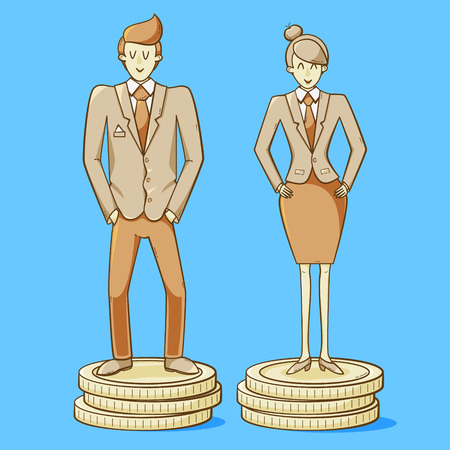 Man and woman earning the same amount of money