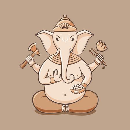 Happy Ganesh Chaturthi, Ganpati festival illustration, Lord Ganesha design