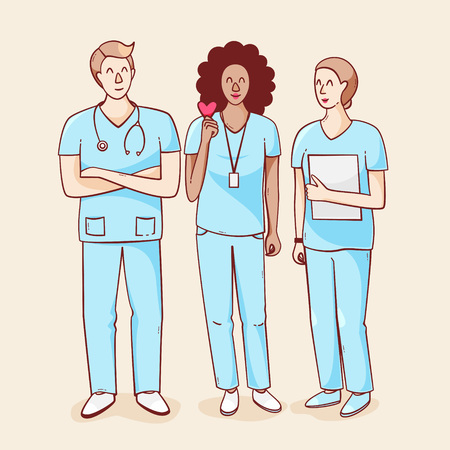International nurse day, vector illustration with heart Illustration