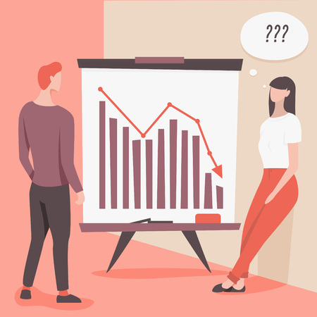 People discussing business problems, vector illustration