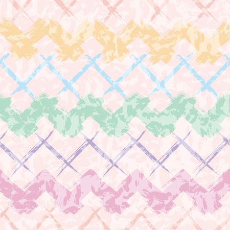 vector seamless hand drawn pastel chevron pattern background. Perfect for fabric, kids, stationery, gift wrap and packaging 矢量图像