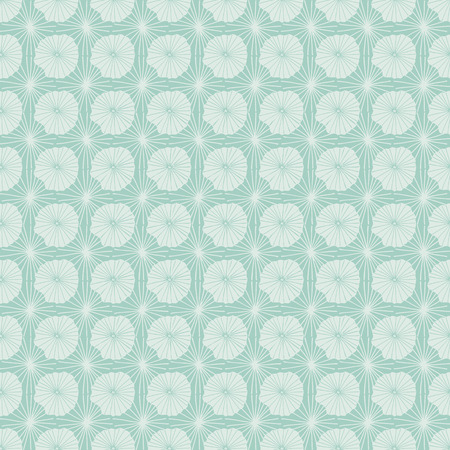 Pastel blue vector seamless repeat pattern of abstract organic shapes representing lotus leaves or jellyfish in a batik tribal style. Ideal for fabric, home decor, stationery, fashion accessories. Reklamní fotografie