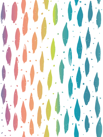 Rainbow effect multicolored vertical hand painted oval brush strokes and dots. Seamless vector pattern. Great for packaging, wrapping paper, stationery, home decor.