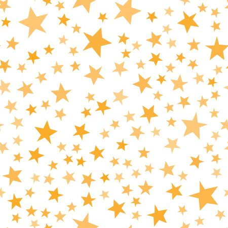 Yellow stars pattern. Basic cute irregular star shapes for kids, Christmastime, wrapping paper, invitations.