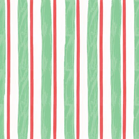 Vertical aged stripes with ragged edges and paint effect. Vector seamless pattern. Ilustração