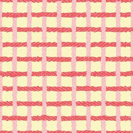 Spaß überprüft karierten Muster nahtlose Vektor Hintergrund. Bunter Grunge-Design-Druck ideal für Kinder, Wohnkultur, Mode, Papier. Vektorgrafik