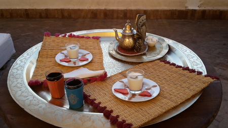 traditional tea time culture morocco marrakech pepper mint desert yoghurt delicious