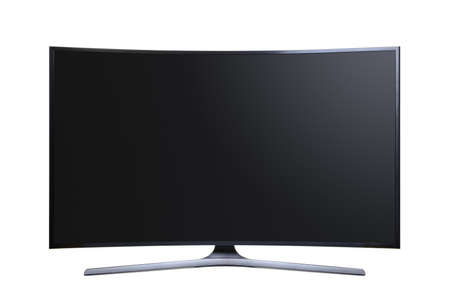 Curved Screen Ultra HD Television, Cut Out 版權商用圖片