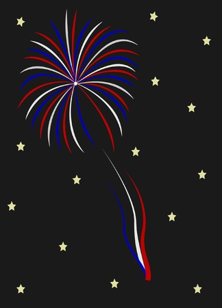 An exploding firework
