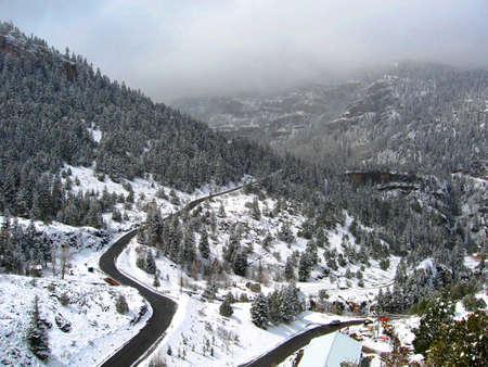 ouray: Road to Box Canyon Early Spring Near Ouray Colorado