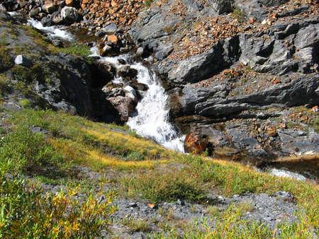 high sierra: Fast Flowing Stream from Eastern High Sierra Lake