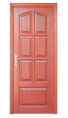 a wooden door isolated on white backgrounds Stock Photo - 5480081