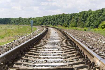 onward: Pista de ferrocarril llevando adelante mucho
