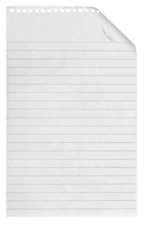 A page ripped off from the notebook. Stock Photo - 5480547