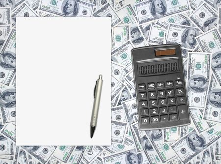 good financial caculate on the financial sheet photo