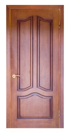 wooden door isolated on white Stock Photo - 5481158