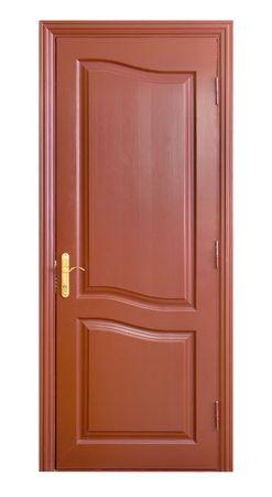wooden door isolated on white Stock Photo - 5481129