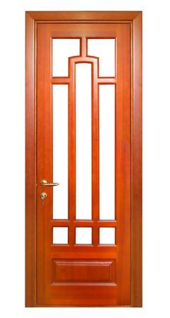 wooden door isolated on white Stock Photo - 5517506