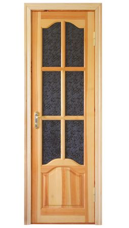wooden door isolated on white Stock Photo - 5517497