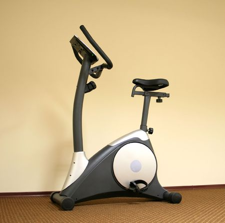 Stationary bicycle and Gym machine Stock Photo - 5517500