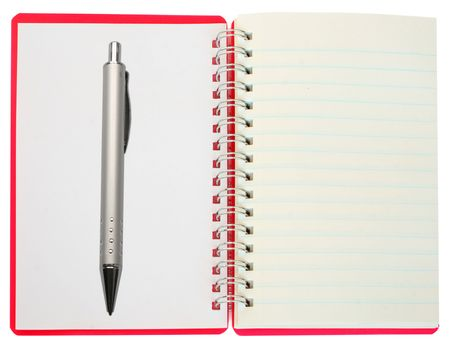 one notebook on the white Stock Photo - 5525064