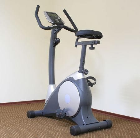 Stationary bicycle and Gym machine Stock Photo - 5559631