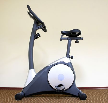 Stationary bicycle and Gym machine Stock Photo - 5608219