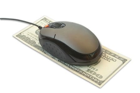 computer mouse on the dollar photo