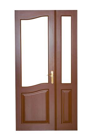 wooden door isolated on white Stock Photo - 5756768