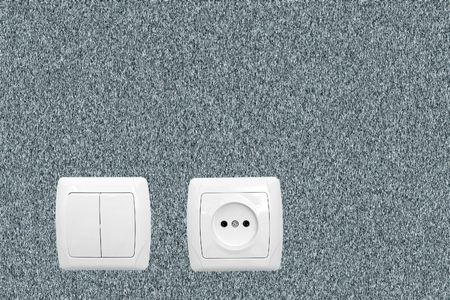 Alone outlet on yellow wallpaper Stock Photo - 5836826