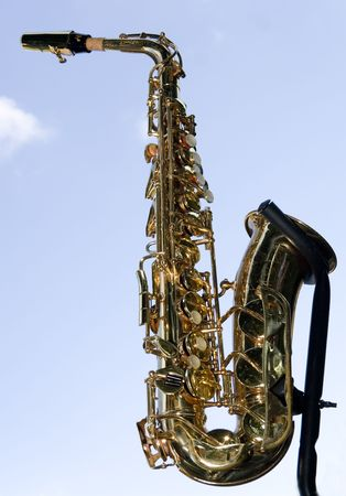 sax on the sky backgraunds photo