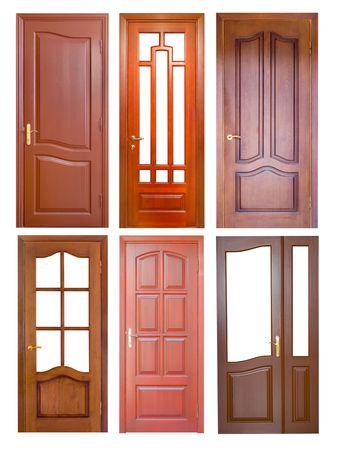 wooden door isolated on white Stock Photo - 5892172