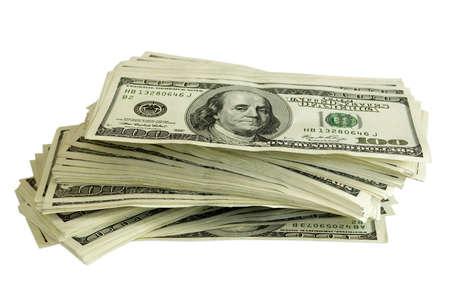 pile of money: big pile of money. stack of american dollars Stock Photo