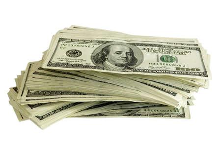 big pile of money. stack of american dollars Stock Photo - 6030350