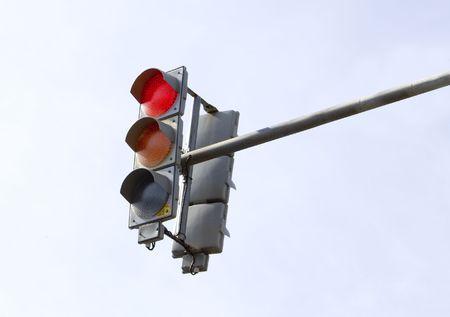 Traffic-light on sky background Stock Photo - 6056002