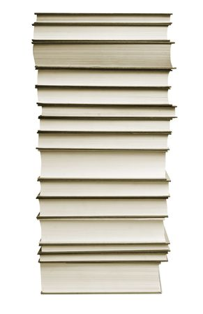 bibliomania: a many books on the white backgrounds