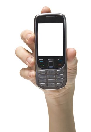 mobile cellphone on the white backgrounds Stock Photo - 6262605