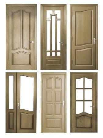 wooden door isolated on white Stock Photo - 6262654