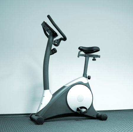 Stationary bicycle and Gym machine Stock Photo - 6326787