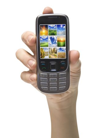 mobile cellphone on the white backgrounds Stock Photo - 6397462