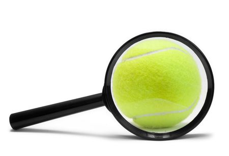 tennis ball isolated on the white