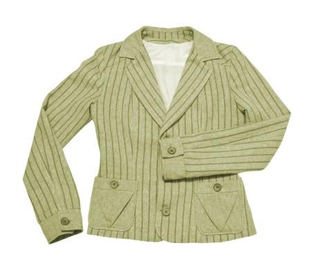 dress - female jacket isolated on white photo