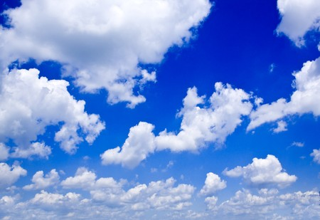 nature background. white clouds over blue sky Stock Photo - 7511181
