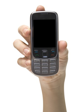 mobile cellphone on the white backgrounds photo