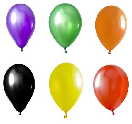 Inflatable balloon, photo on the white background photo