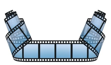 video still: filmstrip on the white backgrounds Stock Photo
